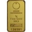 Zlatý slitek Münze Östereich 1 gram kinebar