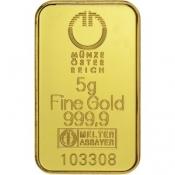 Zlatý slitek Münze Östereich 5 gramů kinegram