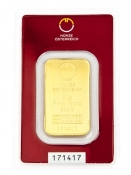 Zlatý slitek Münze Östereich 20 gramů