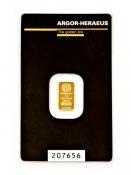 Zlatý slitek Argor Heraeus 1 gram