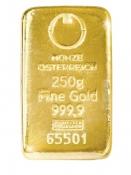 Zlatý slitek Münze Östereich 250 gramů