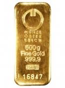 Zlatý slitek Münze Östereich 500 gramů