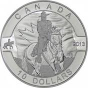 Stříbrná mince Kanadská jízdní policie 1/2 Öz