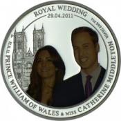 Stříbrná mince Královská svatba William & Catherine 1 Oz