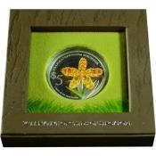 Stříbrná mince Orchidej - Tiger Orchidee