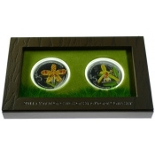 Stříbrná mince Orchideje - sada minci