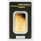 Zlatý slitek Argor Heraeus – 1 Oz Kinegram