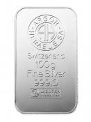 Stříbrný slitek Argor Heraeus 100 gramů