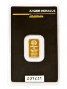 Zlatý slitek Argor Heraeus 2 gramy