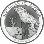 Stříbrná mince Kookaburra 1 Oz 2016