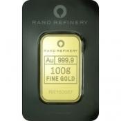 Zlatý slitek Rand Rafinery 100 gramů