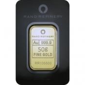 Zlatý slitek Rand Rafinery 50 gramů