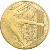 Zlatá mince ME ve fotbale Francie 1/4 Oz 2016 Proof