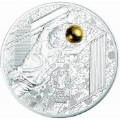 Stříbrná mince ME ve fotbale Francie - Brankář 2016 Proof