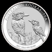 Stříbrná mince Kookaburra 1000 gramů 2017