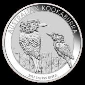 Stříbrná mince Kookaburra 1 Oz 2017