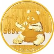 Zlatá mince Panda 30 gramů 2017
