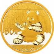 Zlatá mince Panda 3 gramy 2017