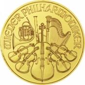 Zlatá mince Philharmoniker 1/25 Oz 2017