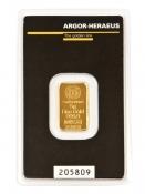 Zlatý slitek Argor Heraeus 5 gramů