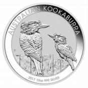 Stříbrná mince Kookaburra 10 Oz 2017
