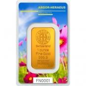 Zlatý slitek Argor Heraeus – 1 Oz FN jaro 2017