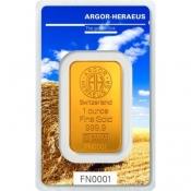 Zlatý slitek Argor Heraeus – 1 Oz FN léto 2017