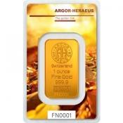 Zlatý slitek Argor Heraeus – 1 Oz FN podzim 2017