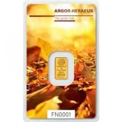 Zlatý slitek Argor Heraeus 1 gram FN podzim 2017