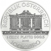 Platinová mince Philharmoniker 1 Oz 2017