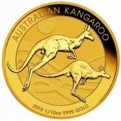 Zlatá mince Australian Kangaroo Gold Bullion 1/10 Oz 2018