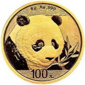 Zlatá mince Panda 8 gramů 2018