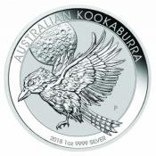 Stříbrná mince Kookaburra 1 Oz 2018