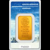 Zlatý slitek Argor Heraeus – 1 Oz FN zime 2017/18