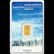 Zlatý slitek Argor Heraeus 1 gram FN podzim 2017/18