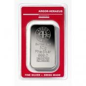 Stříbrný slitek Argor Heraeus 50 gramů