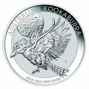 Stříbrná mince Kookaburra 1000 gramů 2018