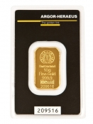 Zlatý slitek Argor Heraeus 10 gramů