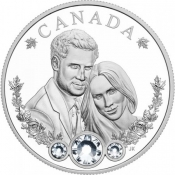 Stříbrná mince Princ Harry & Meghan Markle PP