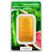 Zlatý slitek Argor Heraeus – 1 Oz FN léto 2018