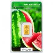 Zlatý slitek Argor Heraeus 1 gram FN léto 2018