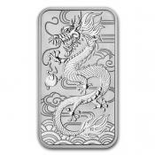 stříbrná mince Drak - Dragon 1 Oz 2018 - obdelník