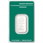 Platinový slitek Argor Heraeus 10 gramů