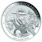 Stříbrná mince Kookaburra 1 Oz 2019