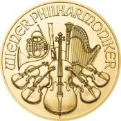 Zlatá mince Philharmoniker 1/25 Oz