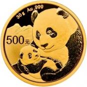 Zlatá mince Panda 30 gramů 2019
