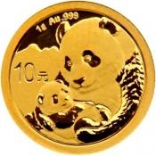 Zlatá mince Panda 1 gram 2019