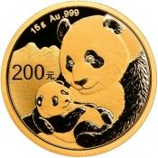 Zlatá mince Panda 15 gramů 2019