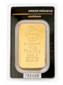 Zlatý slitek Argor Heraeus 100 gramů