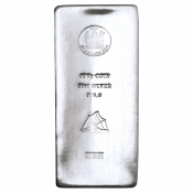Stříbrná mince ve slitkové formě 15 kg